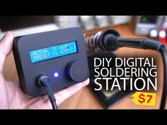 DIY Digital Soldering Station (Hakko 907): Build an affordable Homebrew Hakko 907 Digital Soldering Station! Enjoy the variable and constant temperatures that can reach up to 525°C. The project only requires few components and roughly costs around $7 (excluding the repurposed power supply). … Voltage Divider, Tool Board, Small Computer, Electrical Projects, Soldering Iron, Heating Element, Home Brewing, Arduino, Repurposed
