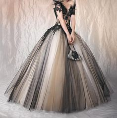 Victorian Custom Order in Black and Tan Tulle