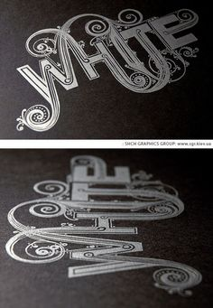"""""""WHITE"""" type by shch Graphics Group"""