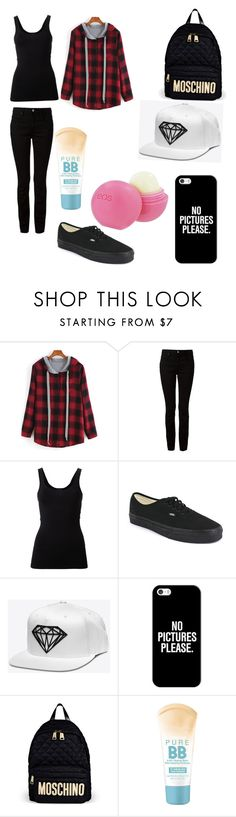 """Tomboy (contest)"" by lovedanya ❤ liked on Polyvore featuring Alexander Wang, Theory, Vans, Casetify, Moschino, Maybelline and Eos"