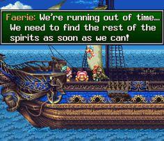 On the ship in Seiken Densetsu 3