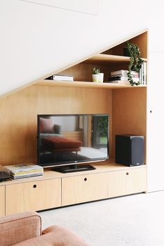 Tv cabinet and shelves | Fitzroy North Home by Nest Architects