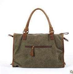 Big bag vintage retro del viaje bolsa de lona de cuero de caballo loco de la venta caliente 2013 de la calle bolsa de mensajero ocasional de moda