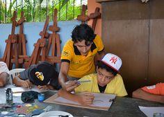 Vacacionales 2015 GAD Municipal Pasaje enseñanza de dibujo y pintura Alcalde César Encalada promueve el arte y cultura en niños y jóvenes del cantón.