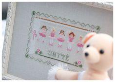 Little Ballerinas (Country Cottage Needleworks) by loretoidas, via Flickr