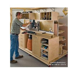Wood Magazine - Woodworking Project Paper Plan to Build On-the-Mark Mitersaw Station Used Woodworking Tools, Woodworking Supplies, Woodworking Workbench, Easy Woodworking Projects, Woodworking Furniture, Woodworking Classes, Woodworking Techniques, Woodshop Tools, Sketchup Woodworking