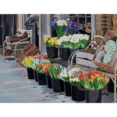 This is an x giclee print of the original painting on archival paper. Numbered and signed by the artist Josh Moulton. The print can be rolled in a tube and shipped. The scene is of Chicago. Chicago Art Galleries, Chicago Artists, Old Town Chicago, Chicago House, Natural Stills, Sweet Woodruff, Large Baskets, Fine Art Gallery, Planting Flowers