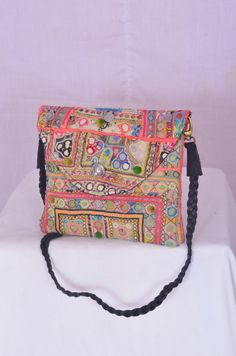 Afghan messenger Bag Hand embroidery Vintage iPad by IndianHippy