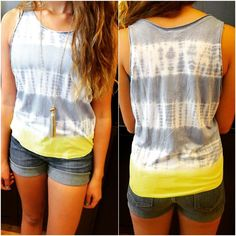 funky tie-dye tee only $ 74. only  2 sizes left #tiedye #charlotte  #shopsmall #thenewtash