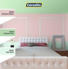 #CeresitaCL #PinturasCeresita #color #world #pintura #decoración #inspiración #verde #rosa *Códigos de color sólo para uso referencial. Los colores podrían lucir diferentes, según calibrado de su monitor.