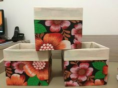 O canal vai sortear o kit com 3 caixas organizadoras. Diy Storage Boxes, Fabric Storage Bins, Fabric Covered Boxes, Sewing Projects, Projects To Try, Diy And Crafts, Arts And Crafts, Crazy Colour, Craft Tutorials