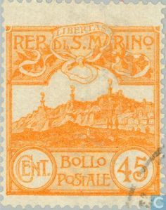 Stamps - San Marino - Castles
