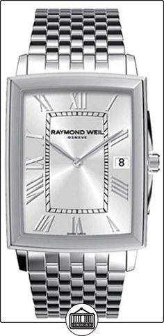 Raymond Weil Tradition Mens Silver Stainless Steel Date Watch 5456-ST-00658  ✿ Relojes para hombre - (Lujo) ✿