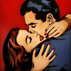 65 Ideas Pop Art Love Couple Roy Lichtenstein For 2019 Comic Kunst, Comic Art, Comic Book, Desenho Pop Art, Comics Vintage, Retro Kunst, Art Love Couple, Beautiful Couple, Vintage Pop Art