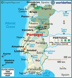 My Ancestors Come From The Northernmost Parts Of Portugal Mainly - Portugal map north