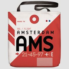 AMS - Tote Bag Schiphol Airport - Amsterdam, Netherlands