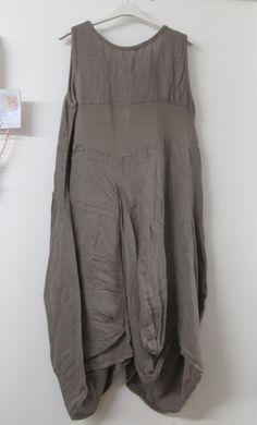 lagenlook clothing | monton lagenlook linen tunic dress mushroom brown lagenlook is a ...