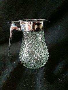 Vintage Crystal Syrup Dispenser