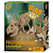 GeoWorld Realistic Museum Quality Protoceratops Dinosaur Skeleton Fossil Excavation Dig Kit Toy | Nothing But Dinosaurs