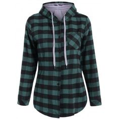 SHARE & Get it FREE | Plaid Pocket Design Buttoned HoodieFor Fashion Lovers only:80,000+ Items·FREE SHIPPING Join Dresslily: Get YOUR $50 NOW!