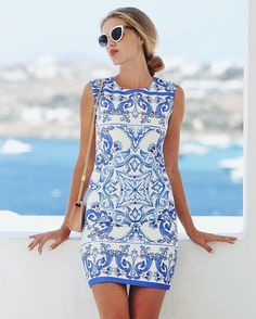 @thesecretstop in Blue and White Porcelain Dress…
