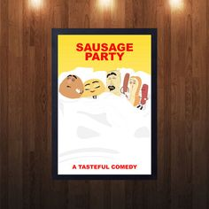 Sausage Party Movie Poster, Sausage Party Minimalist Movie Poster, Seth Rogen…