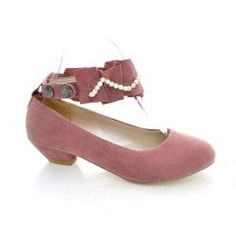 Casual Womens Pumps With Suede Beads Design (PINK,38) China Wholesale - Sammydress.com