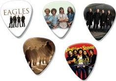 Eagles 5 Loose Playable Guitar Picks Plectrums Medium Gauge Collection A