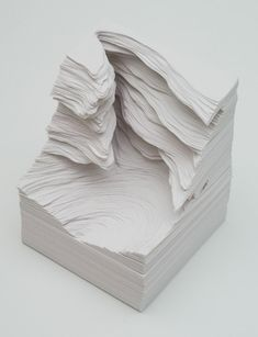 Japanese artist, Noriko Ambe, Papercuttings turning into landscapes