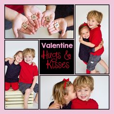Kids valentine pictures, siblings