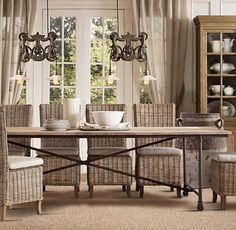 Why We Should Choose the Rattan Dining Chairs for Our Dining Room : Rattan Dining Chairs Design Ideas