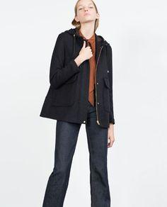 Image 3 of SHORT WOOL COAT from Zara