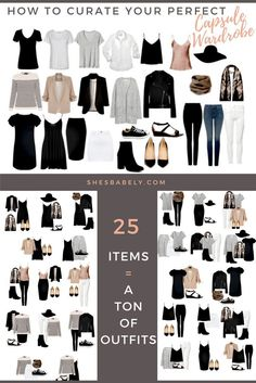 Build Your Perfect Capsule Wardrobe - Curate Your Capsule Wardrobe - FREE WORKBOOK - Free Printables- Free EBook - Minimalism Organization Declutter | www.shesbabely.com #work_style_capsule_wardrobe