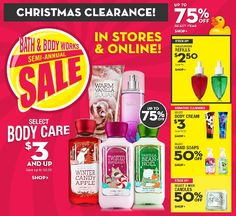 Bath and Body Works Semi-Annual Sale and Clearance Deals! Bath Body Works Coupon, Bath And Body Works, Christmas Clearance, Christmas Sale, Best Facial Hair Removal, Vanilla Sugar, Ultra Shea Body Cream, Semi Annual Sale, Best Bath