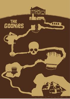 The Goonies (1985) ~ Minimal Movie Poster by David Peacock #amusementphile