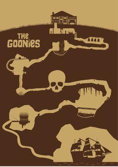 The Goonies (1985) ~ Minimal Movie Poster by David Peacock #amusementphile
