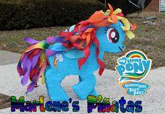 My Little Pony piñata ( Rainbow Dash ) by Marlene's Pinatas...!