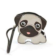 06e3534f9d7 This Sleepyville Critters Gray   Black Pug Wistlet Coin Purse by  Sleepyville Critters is perfect!