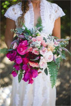 Cascading romantic wedding bouquet.