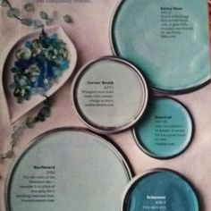 Paint Colors that I would use as seen thru this board for the dream living room