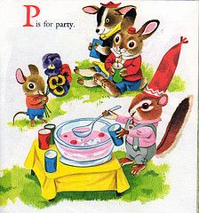 Chipmunk's ABC, Richard Scarry, 1963 (reissue)- Party