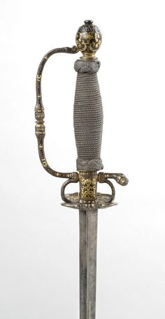 Smallsword for a Boy.     Made in France, Europe.  Date: c. 1700.
