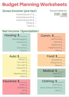 FREE Printable Budget Sheet | Best of Pinterest | Pinterest ...