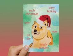 Doge Meme Christmas Card by DontMoveStationery on Etsy