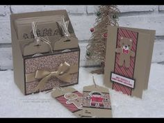 Crafty Christmas Countdown #24   Card and Tag Holder using Candy Cane Lane DSP - YouTube