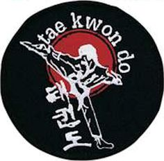 Taekwondo Kicker Round Patch