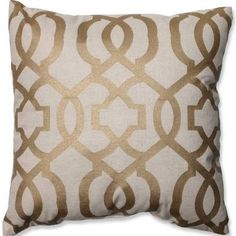 gold and linen pillow