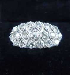 Vintage Princess Diamond Ring, 20's Princess Rings, Princess Cut Diamonds, Vintage Engagement Rings, Diamond Engagement Rings, Diamond Rings, Diamond Cuts, Vintage Princess, Art Deco Jewelry, Diamond Are A Girls Best Friend