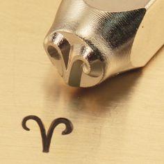 ARIES ZODIaC METAL STaMP NeW 6mm 1/4 Steel Punch by NaftaliSupply, $8.00