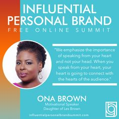 Catch this warm and inspiring interview between Rory Vaden and the amazing Les Brown and his equally inspirational daughter, Ona Brown on the #influentialpersonalbrandsummit. So good!  Ona Brown, daughter of Les Brown and business partner, has made her mark as an expert in personal and professional transformation throughout the world. She has inspired and motivated audiences in hundreds of cities in the U.S. as well as abroad. Miss Nevada, Building A Personal Brand, Radio Personality, Brand Strategist, Les Brown, Keynote Speakers, Instagram Influencer, See On Tv, Personal Branding